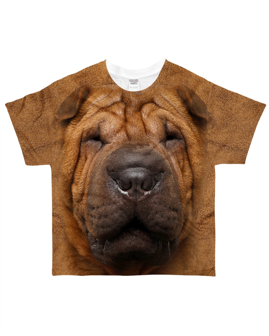 Shar Pei-Face and Hair All-over T-Shirt