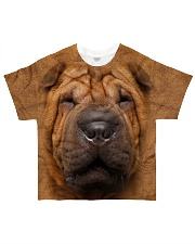 Shar Pei-Face and Hair All-over T-Shirt front