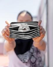 Samoyed Stripes FM Cloth face mask aos-face-mask-lifestyle-07