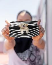 Labrador Stripes FM Cloth face mask aos-face-mask-lifestyle-07