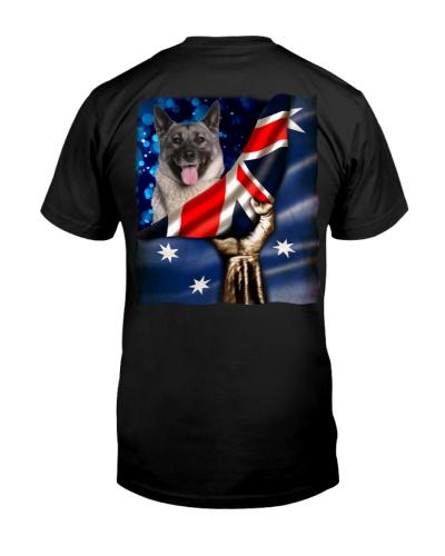 Flag of Australia-Norwegian Elkhound
