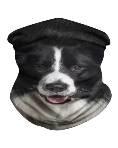 Border Collie Face 3D BDN