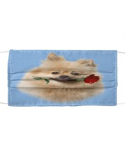 Keeshond Rose FM Cloth face mask front