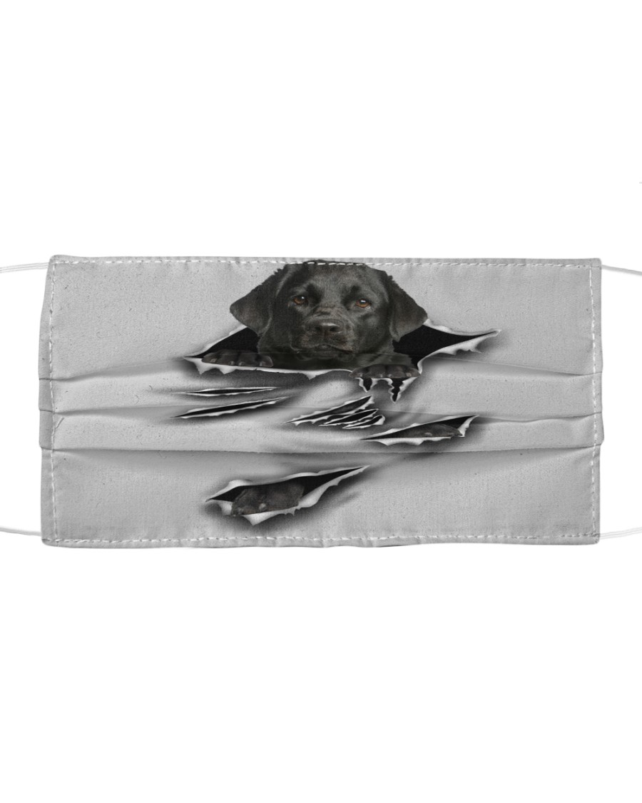 Black Labrador -Scratch-FM Cloth face mask