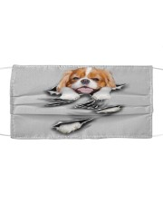 Cavalier King Charles Spaniel-Scratch-FM Cloth face mask front