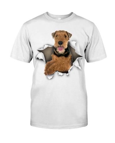 Welsh Terrier-Torn Paper Effect
