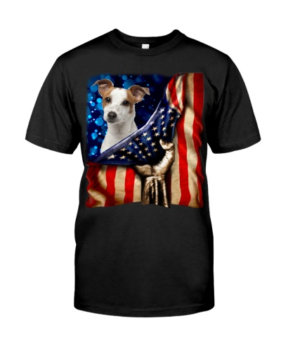 Jack Russell Terrier American Flag-Front