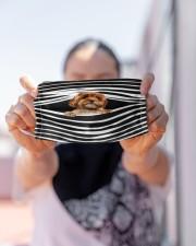 Cavoodle Stripes FM Cloth face mask aos-face-mask-lifestyle-07