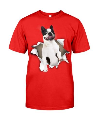 Boston Terrier-Torn Paper Effect