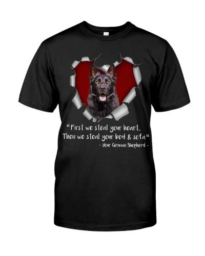 German Shepherd-Torn Paper Heart