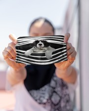 Landseer Stripes FM Cloth face mask aos-face-mask-lifestyle-07