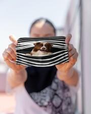 Border Collie Stripes FM Cloth face mask aos-face-mask-lifestyle-07