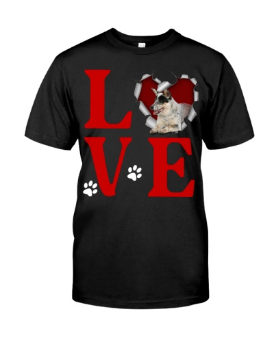 Australian Cattle Dog -Love Torn Heart