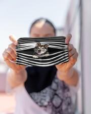 Alaskan Malamute Stripes FM Cloth face mask aos-face-mask-lifestyle-07