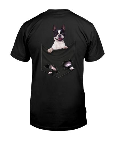 Boston Terrier Back Pocket