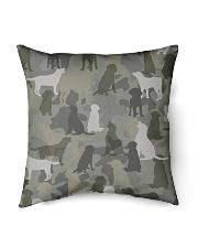 """Labrador Retriever-camouflage Indoor Pillow - 16"""" x 16"""" thumbnail"""