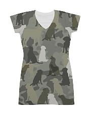 Labrador Retriever-camouflage All-over Dress thumbnail