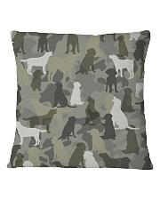 Labrador Retriever-camouflage Square Pillowcase thumbnail