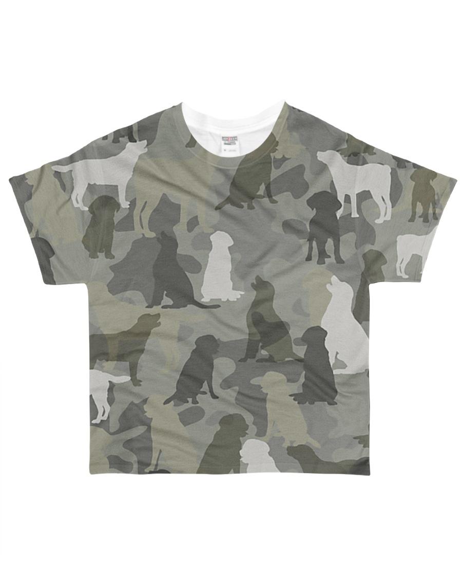 Labrador Retriever-camouflage All-over T-Shirt