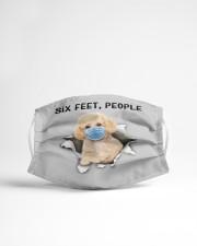Poodle Crossbreed Six Feet People FM Cloth face mask aos-face-mask-lifestyle-22