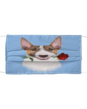 Bull Terrier Rose FM Cloth face mask front