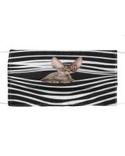 Devon Rex Cat Stripes FM Cloth face mask front