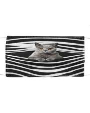 British Shorthair Cat Stripes FM Cloth face mask front