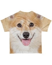 Corgi-Face and Hair All-over T-Shirt back