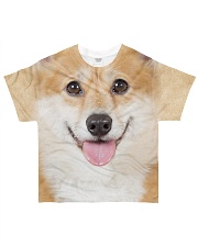 Corgi-Face and Hair All-over T-Shirt front
