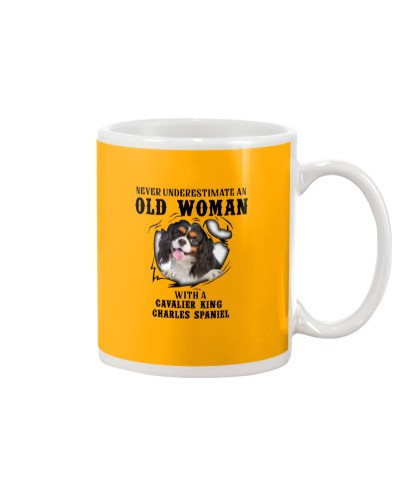 Old Woman With A Cavalier King Charles Spaniel