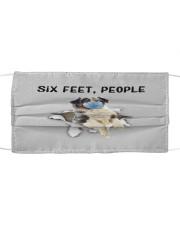 Australian Shepherd Six Feet People FM Cloth face mask front