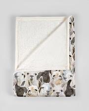 "Llama Full Face Small Fleece Blanket - 30"" x 40"" aos-coral-fleece-blanket-30x40-lifestyle-front-17"