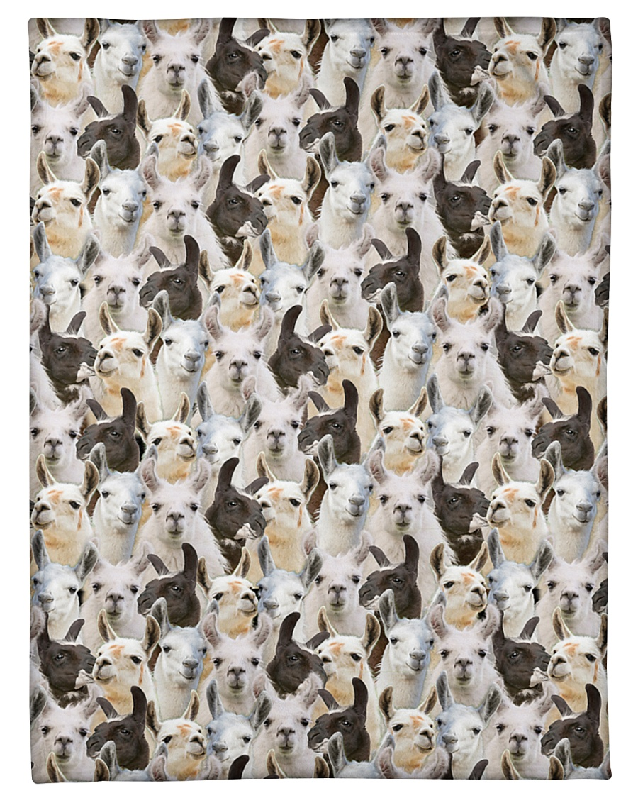 "Llama Full Face Small Fleece Blanket - 30"" x 40"""