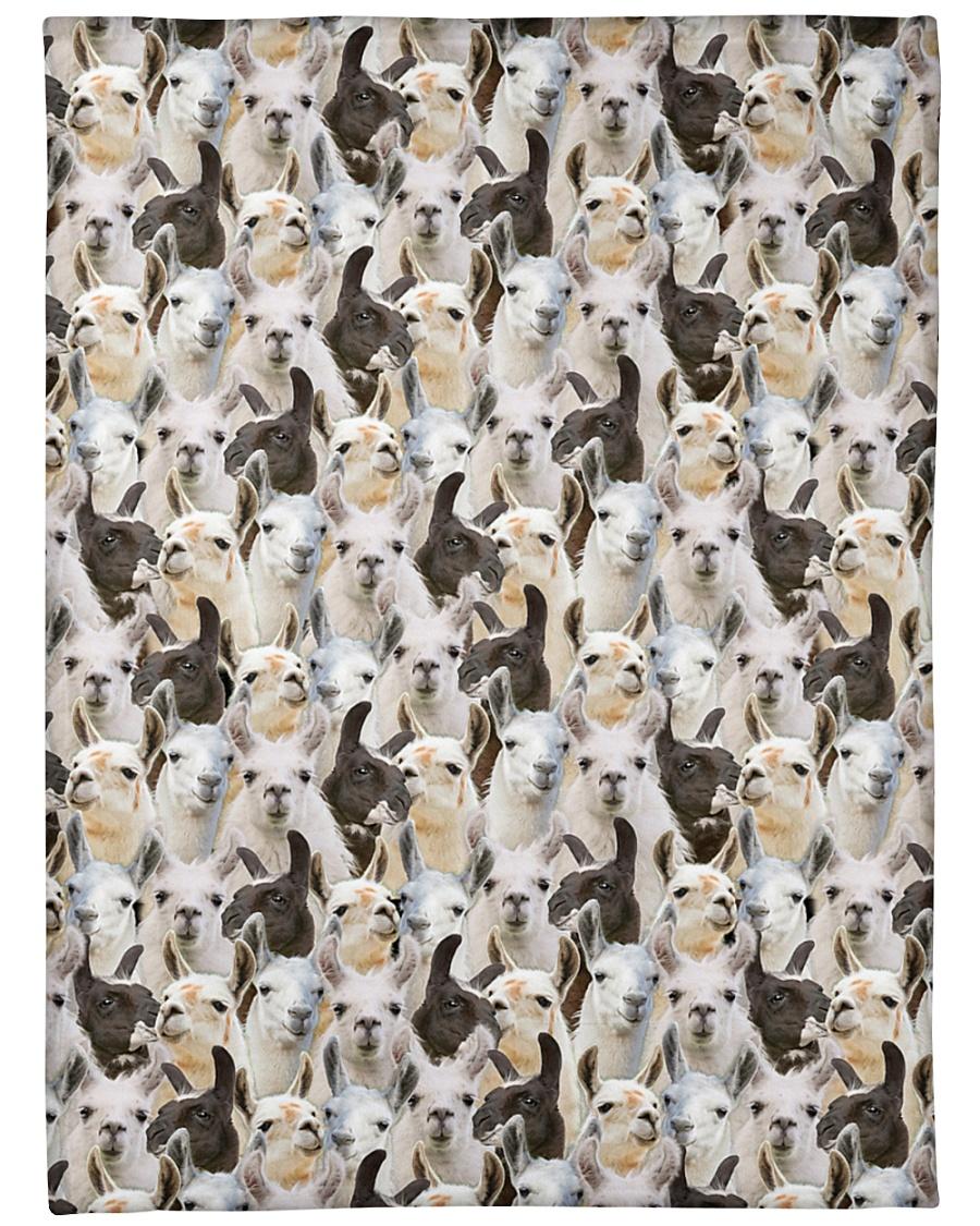 "Llama Full Face Large Fleece Blanket - 60"" x 80"""