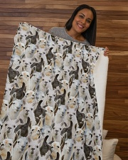"Llama Full Face Sherpa Fleece Blanket - 50"" x 60"" aos-sherpa-fleece-blanket-50x60-lifestyle-front-09b"