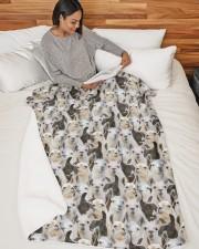 "Llama Full Face Large Sherpa Fleece Blanket - 60"" x 80"" aos-sherpa-fleece-blanket-60x80-lifestyle-front-06"