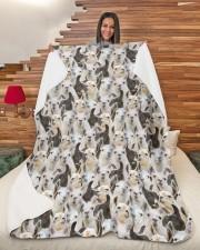 "Llama Full Face Large Sherpa Fleece Blanket - 60"" x 80"" aos-sherpa-fleece-blanket-60x80-lifestyle-front-11"