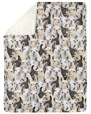 "Llama Full Face Large Sherpa Fleece Blanket - 60"" x 80"" thumbnail"