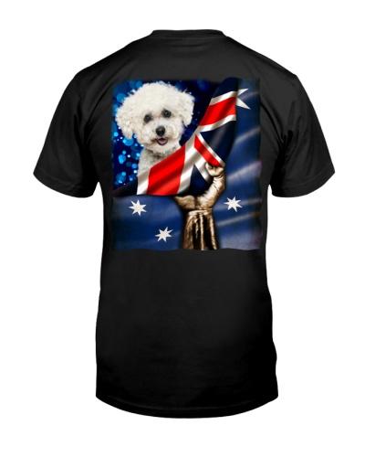 Flag of Australia-Bichon Frise