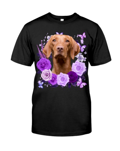 Vizsla-Purple Flower