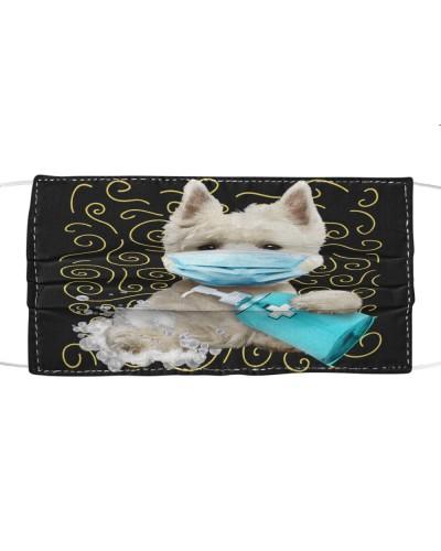 West Highland White Terrier-Face Mask-Wash-FM