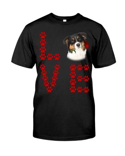 Australian Shepherd Paw Love Rose