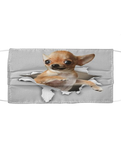 Chihuahua Torn Paper Face