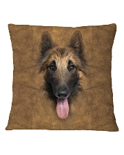 Tervuren Dog-Face and Hair Square Pillowcase thumbnail