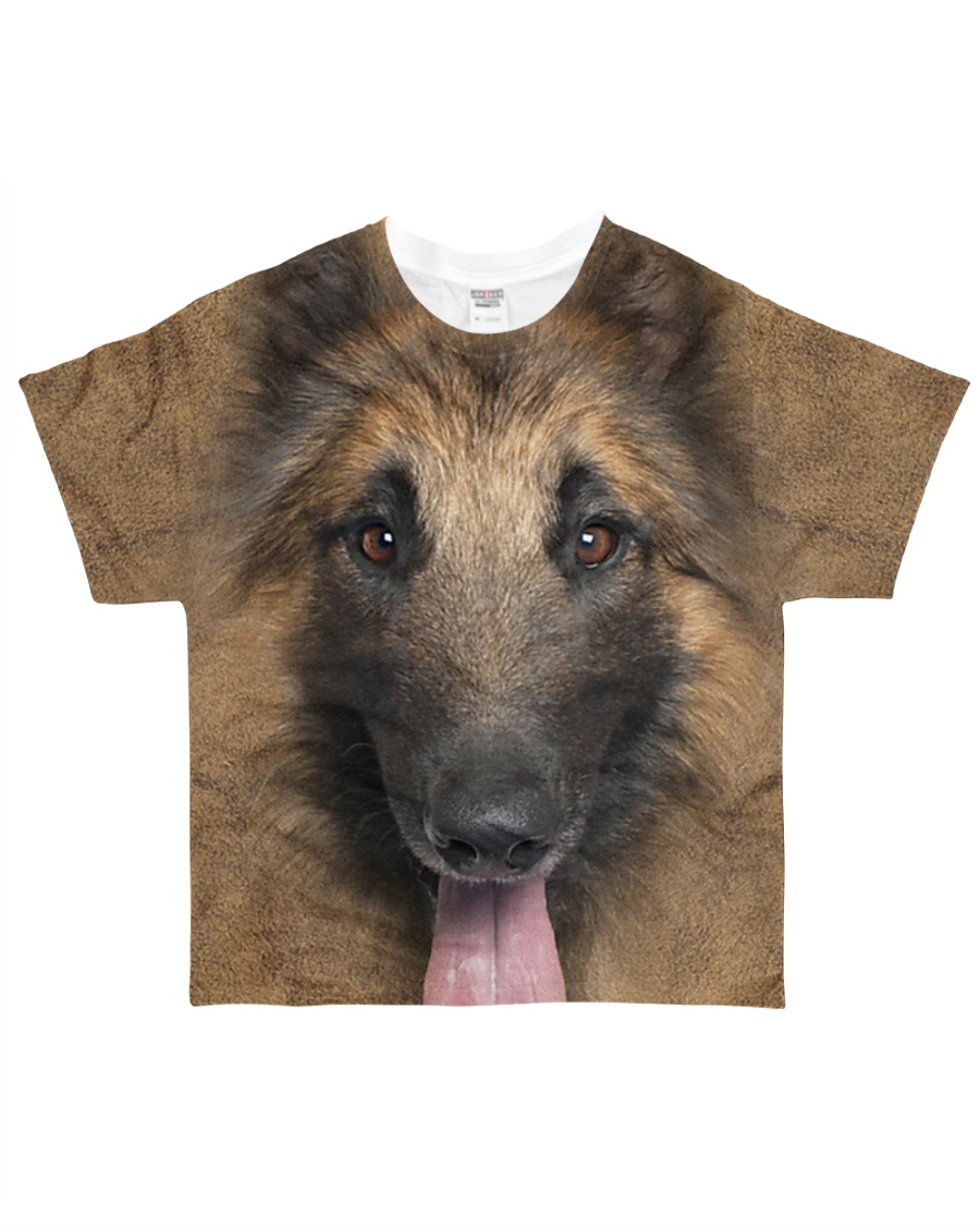 Tervuren Dog-Face and Hair All-over T-Shirt