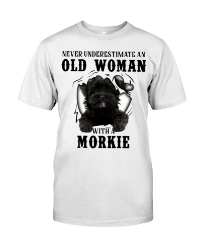 Old Woman With A Black Morkie