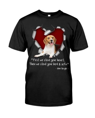 Beagle-Torn Paper Heart