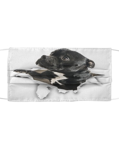 Staffordshire Bull Terrier Torn Paper Face