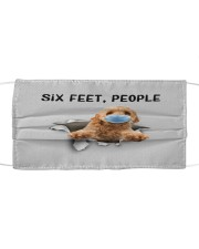 Goldendoodle Six Feet People FM Cloth face mask front