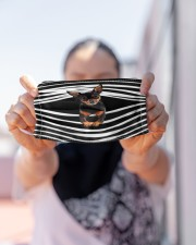 Miniature Pinscher Stripes FM Cloth face mask aos-face-mask-lifestyle-07